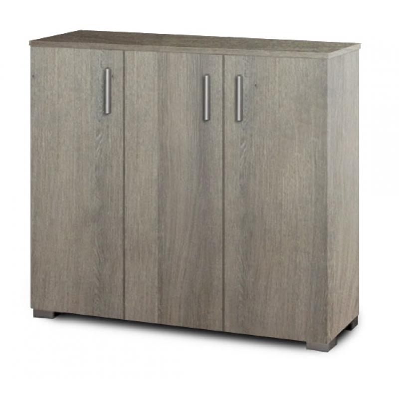 Παπουτσοθήκη-ντουλάπι σε χρώμα σταχτί 100x36x92