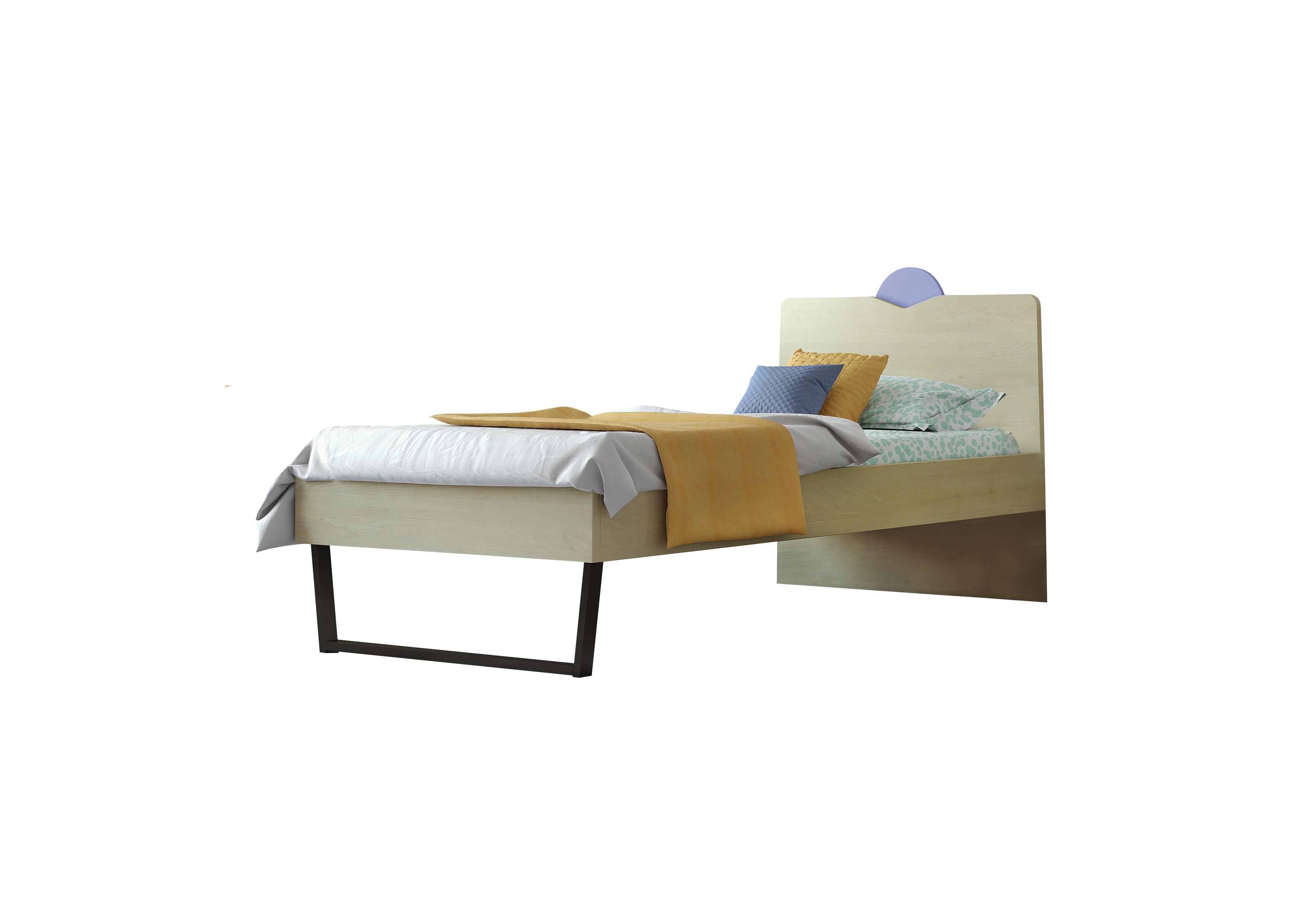 """Παιδικό κρεβάτι """"ΑΝΑΤΟΛΗ"""" μονό σε χρώμα δρυς-σιελ 90x190"""