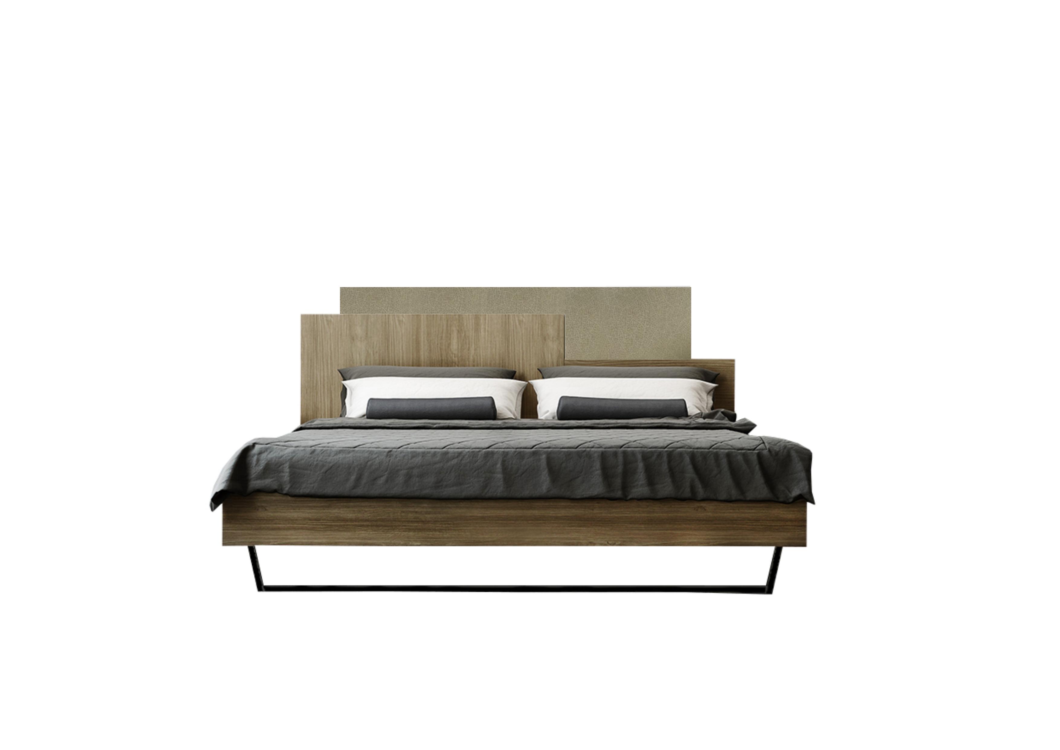 """Κρεβάτι """"ΜΟΡΦΕΑΣ"""" διπλό σε χρώμα καρυδί-μόκα ανοιχτό 160x200"""