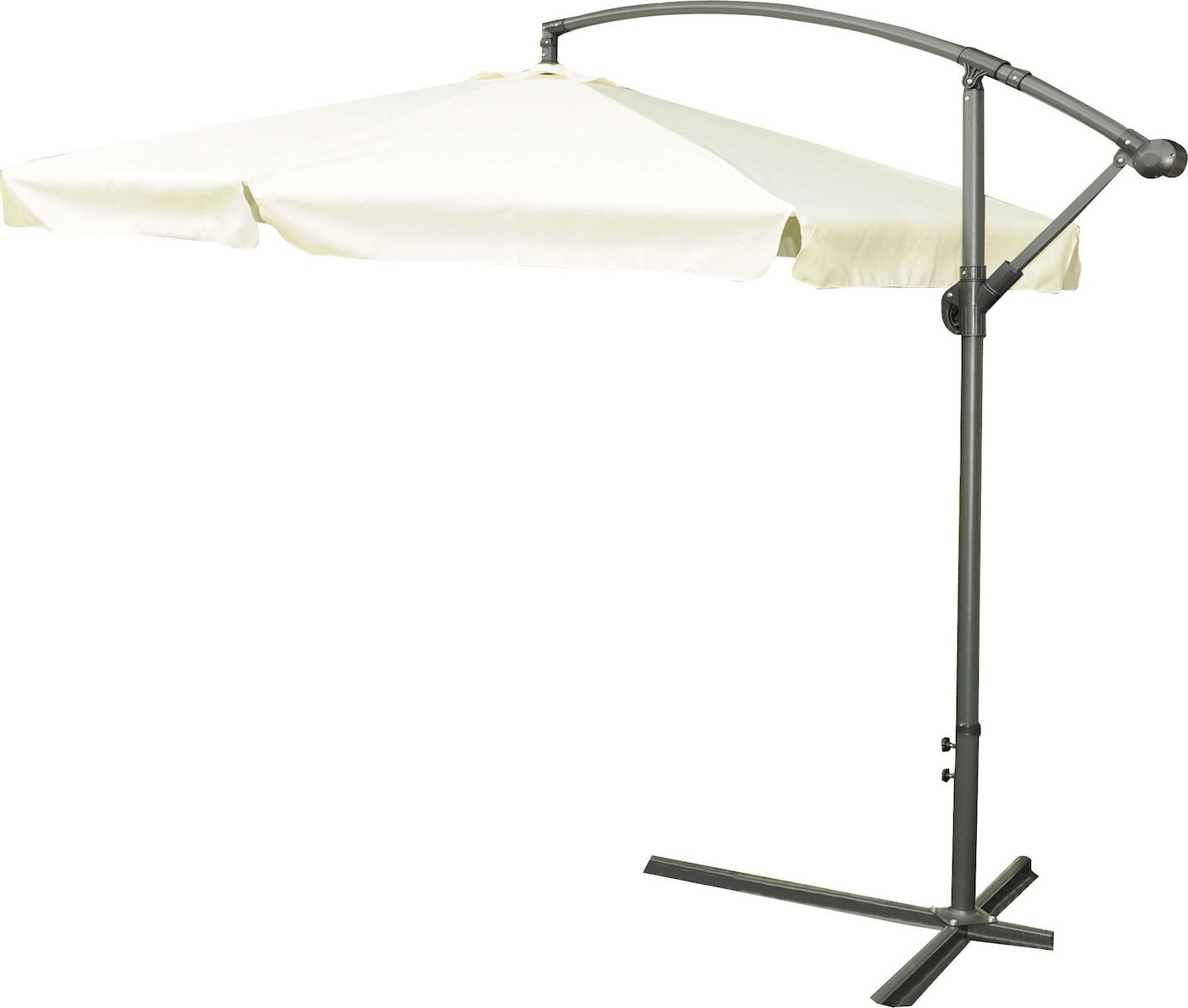 Ομπρέλα στρόγγυλη κρεμαστή 3 μέτρα με ύφασμα σε μπεζ χρώμα 3Μ