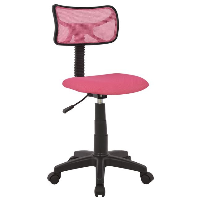 Καρέκλα εργασίας από ύφασμα σε χρώμα ροζ 40,5×50,5×91,5