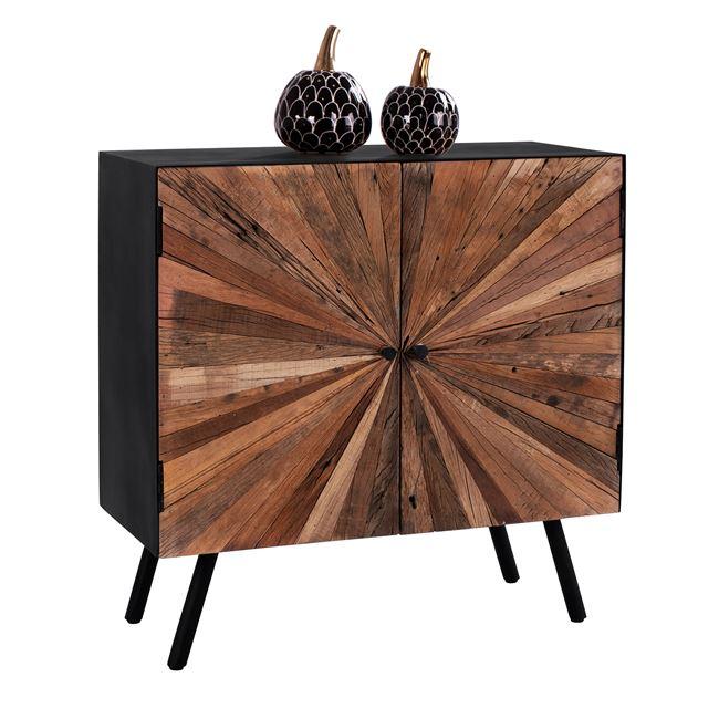 """Μπουφές """"URBAN"""" ξύλινος σε χρώμα μαύρο/φυσικό 84,5×37,5×85"""