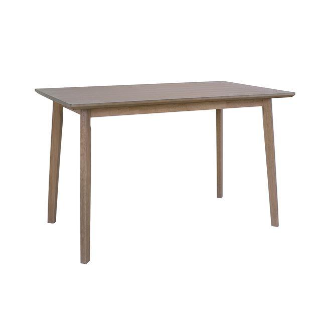 Τραπέζι ξύλινο σε χρώμα σπασμένο λευκό 120,5×75,5×76,5