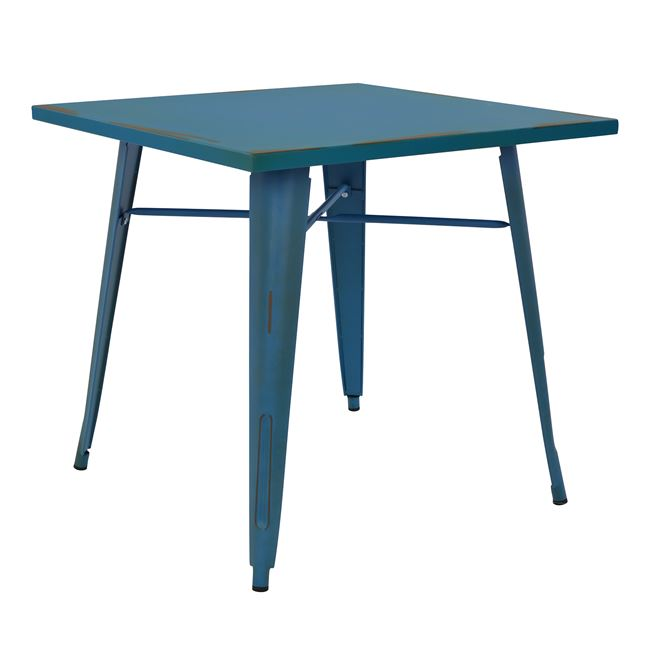 Τραπέζι μεταλλικό σε χρώμα μπλε 80x80x76