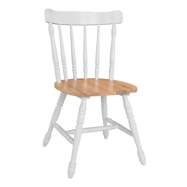 """Καρέκλα """"ZEN"""" ξύλινη σε χρώμα λευκό/φυσικό 51x50x86"""