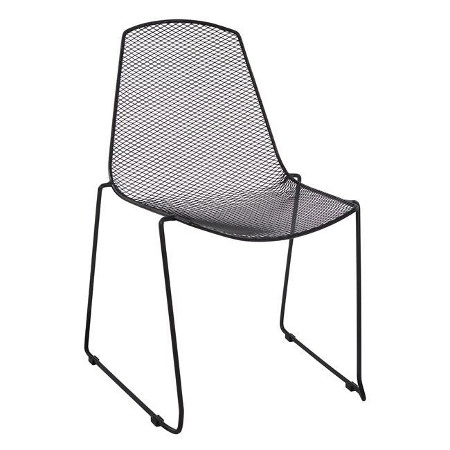 """Καρέκλα """"URANIA"""" μεταλλική σε χρώμα μαύρο 56x58,5x86"""