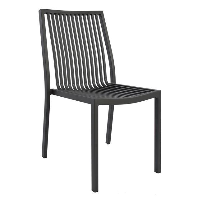 Καρέκλα αλουμίνιου σε γκρι χρώμα 45,5x59x83,5