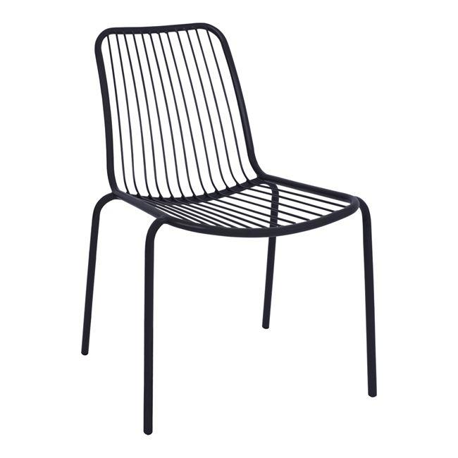 Καρέκλα «VALE» μεταλλική σε γκρι χρώμα 54×58,5×80,5