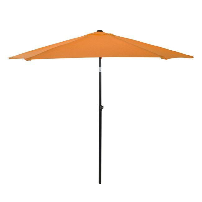 Ομπρέλα μεταλλική σε χρώμα πορτοκαλί με 6 ακτίνες Φ270×257