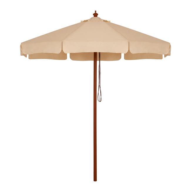 Ομπρέλα με ξύλινο σκελετό σε χρώμα μπεζ Φ230×250