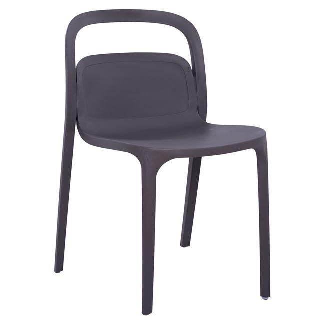 """Πολυθρόνα """"ELLEN"""" πολυπροπυλενίου σε σκούρο γκρι χρώμα 45,5x53x80"""