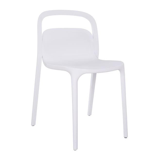 """Πολυθρόνα """"ELLEN"""" πολυπροπυλενίου σε λευκό χρώμα 45,5x53x80"""