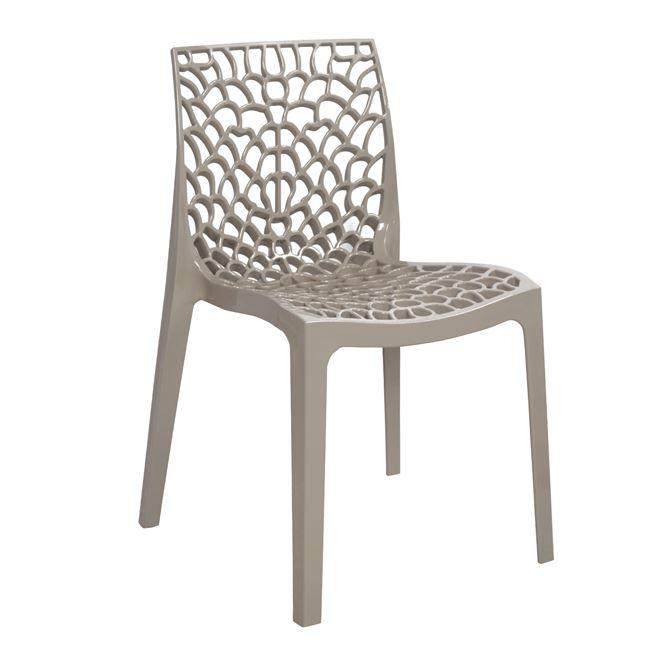 Καρέκλα «GRUVYER» πολυπροπυλενίου σε μπεζ χρώμα 52x53x81
