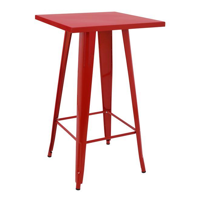 Σταντ μπαρ μεταλλικό σε χρώμα κόκκινo 60x60x102