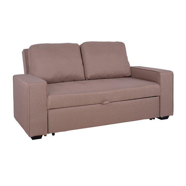 Καναπές κρεβάτι υφασμάτινος σε μπεζ χρώμα 175x100x83