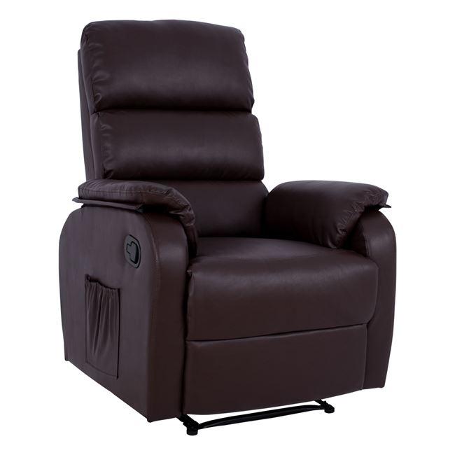"""Πολυθρόνα μασάζ """"COMFORT RELAX"""" από PU σε χρώμα καφέ 78x97x97"""