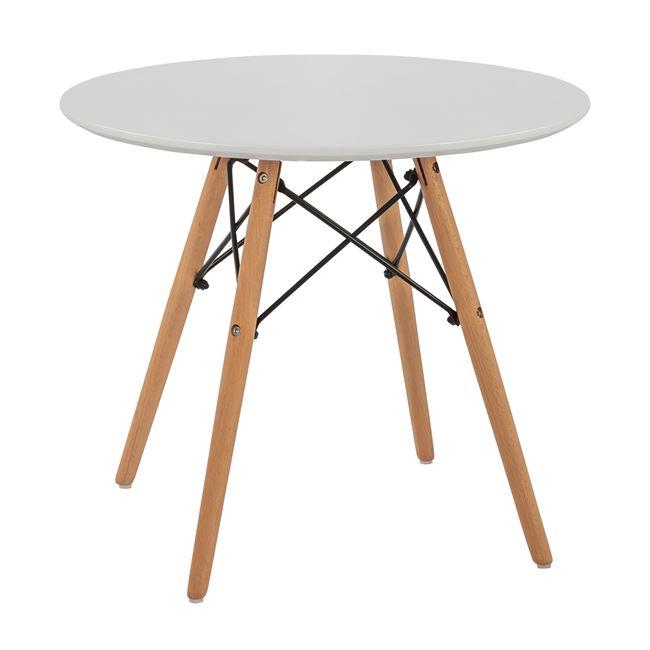 """Τραπέζι """"MINIMAL KID"""" από mdf/ξύλο σε χρώμα λευκό/φυσικό Φ60×51"""
