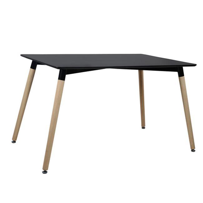 """Τραπέζι """"MINIMAL"""" από mdf/ξύλο σε χρώμα μαύρο/φυσικό 120x80x73"""