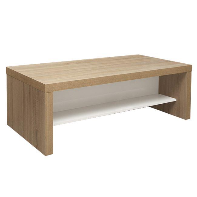 Τραπέζι σαλονιού σε χρώμα σονόμα/λευκό 120x60x42