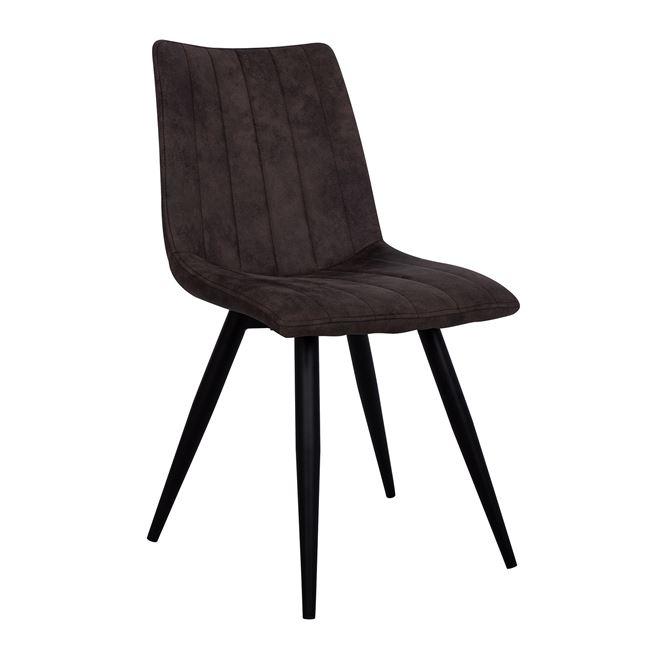 """Καρέκλα """"CASTLE"""" υφασμάτινη/μεταλλική σε χρώμα γκρι 47x59x87"""