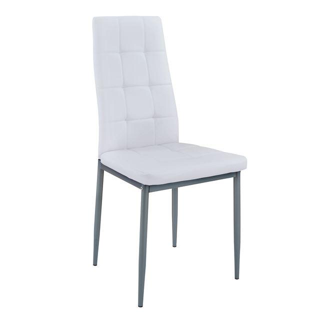 """Καρέκλα """"DIMI"""" μεταλλική/PU σε χρώμα λευκό 42x51x95"""