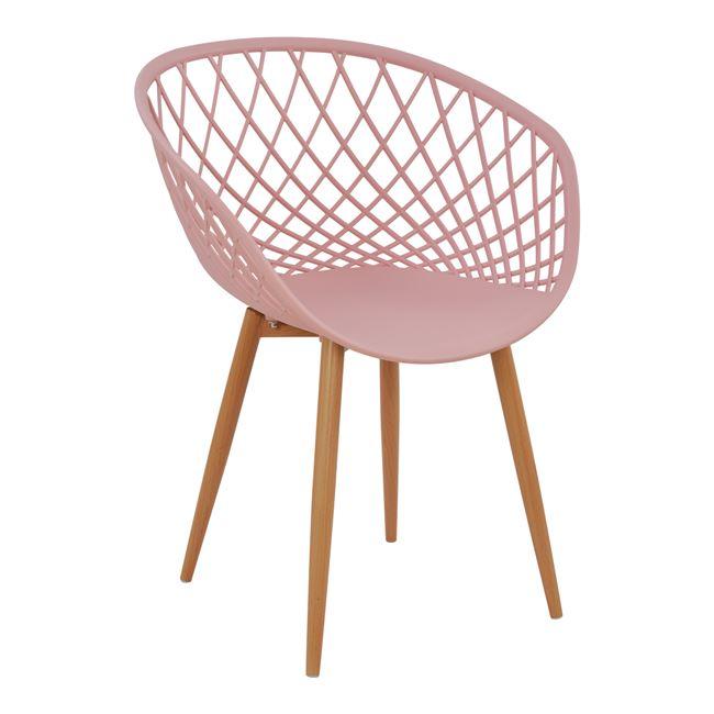 """Πολυθρόνα """"ARIADNE"""" PP σε χρώμα ροζ/φυσικό 62,5x56x80"""