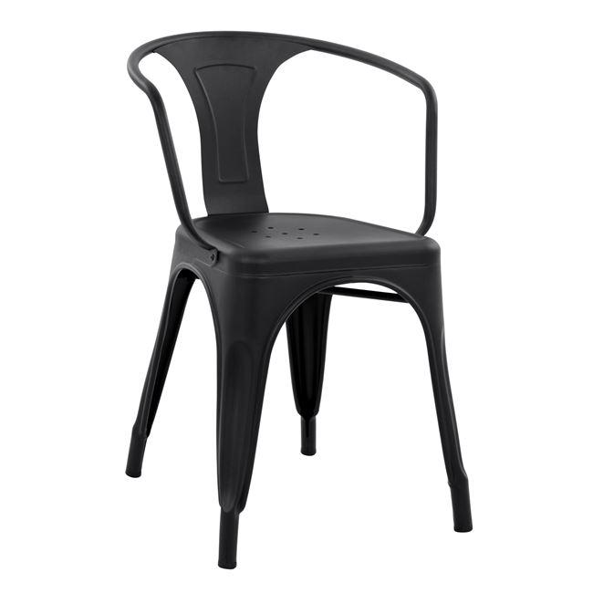 """Πολυθρόνα """"MELITA"""" μεταλλική σε χρώμα μαύρο ματ 51x46x72,5"""