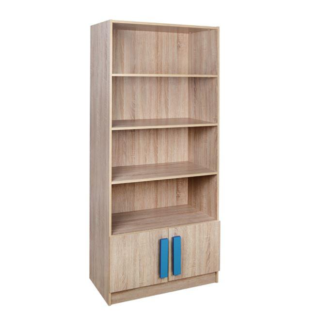 """Βιβλιοθήκη """"PLAYROOM"""" σε χρώμα σονόμα/μπλε 80x35x180"""