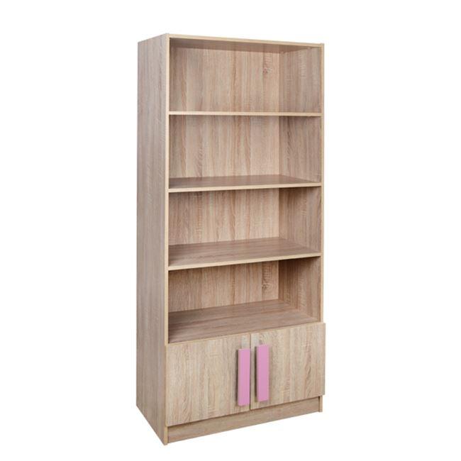 """Βιβλιοθήκη """"PLAYROOM"""" σε χρώμα σονόμα/ροζ 80x35x180"""