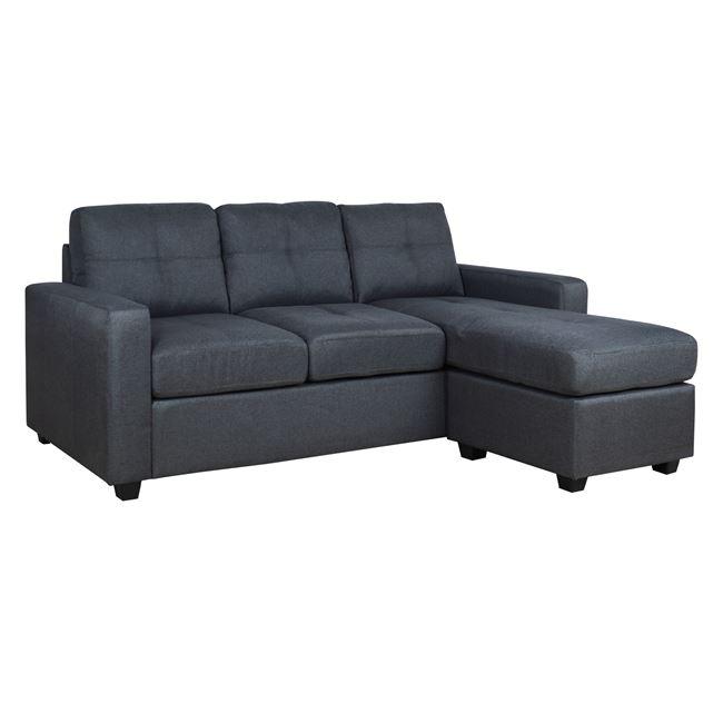 Καναπές γωνία από ύφασμα σε χρώμα γκρι 205x145x87