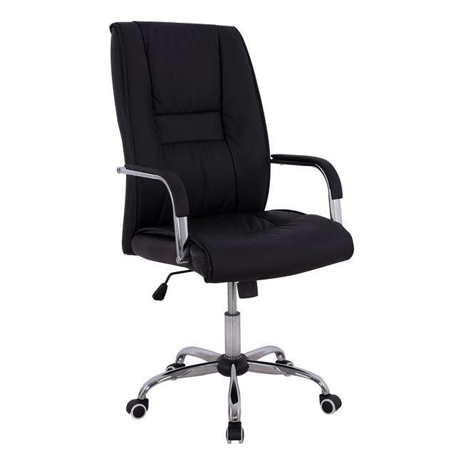 Πολυθρόνα διευθυντή από PU σε χρώμα μαύρο 58,5x70x120