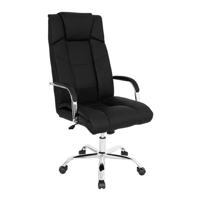 Πολυθρόνα διευθυντή από PU σε χρώμα μαύρο 59,5x74x119