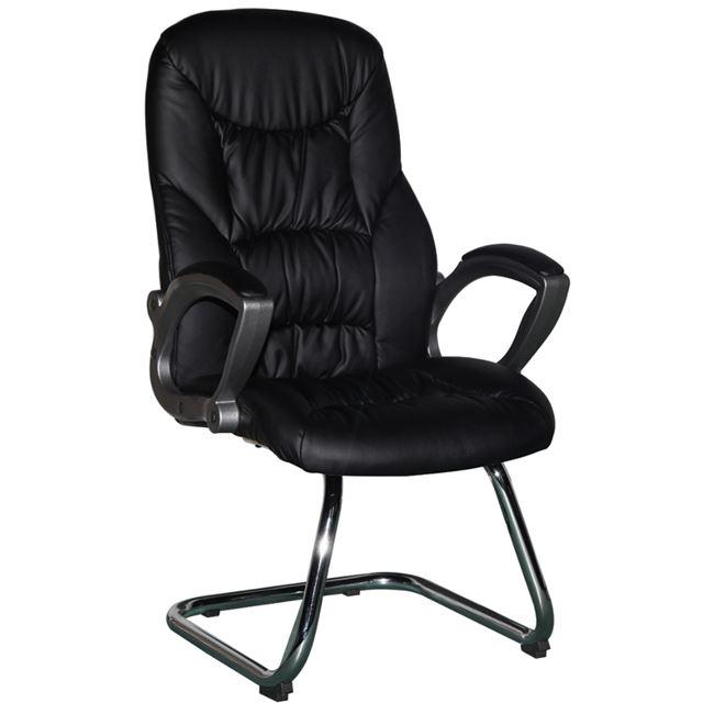 Πολυθρόνα επισκέπτη από PU σε χρώμα μαύρο 60x50x104