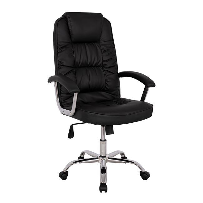 Πολυθρόνα διευθυντή από PU σε χρώμα μαύρο 67x67x118