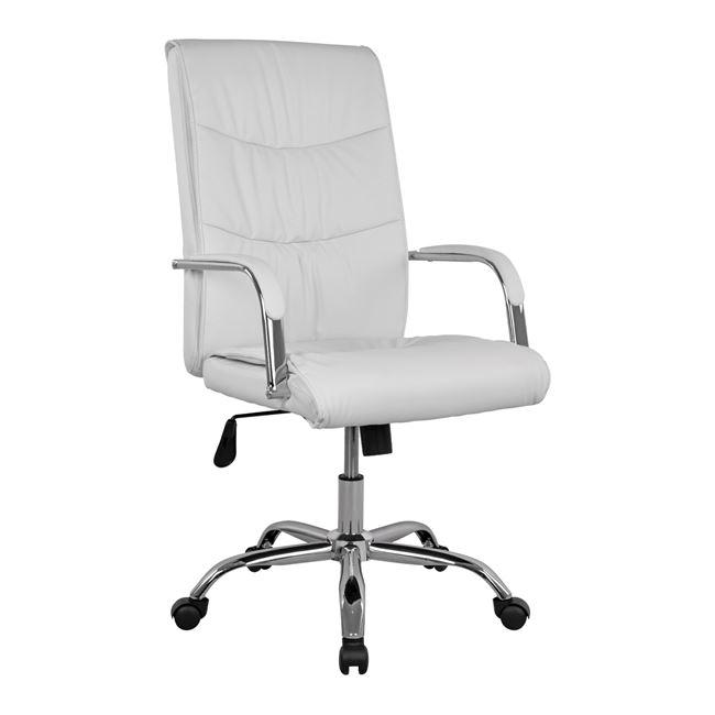 """Πολυθρόνα διευθυντή """"JACOB"""" από PU σε χρώμα λευκό 56x67x112"""
