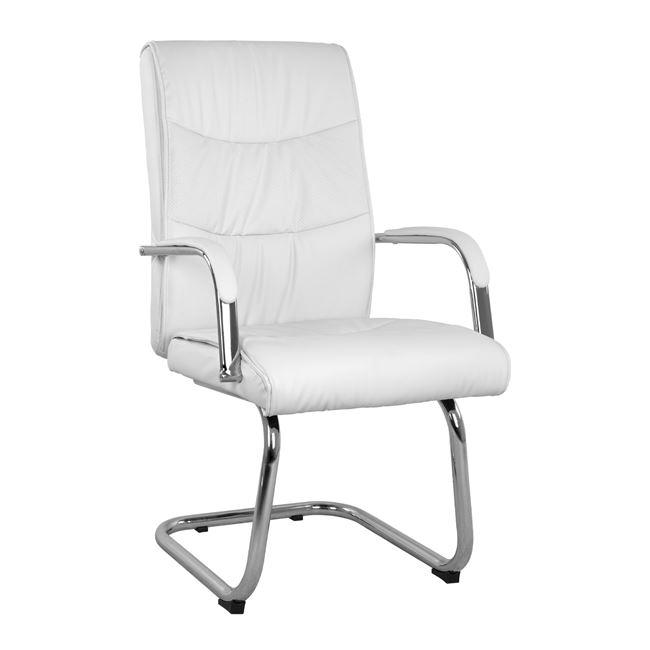 """Πολυθρόνα επισκέπτη """"JULIAN"""" από PU σε χρώμα λευκό 56x72x100"""