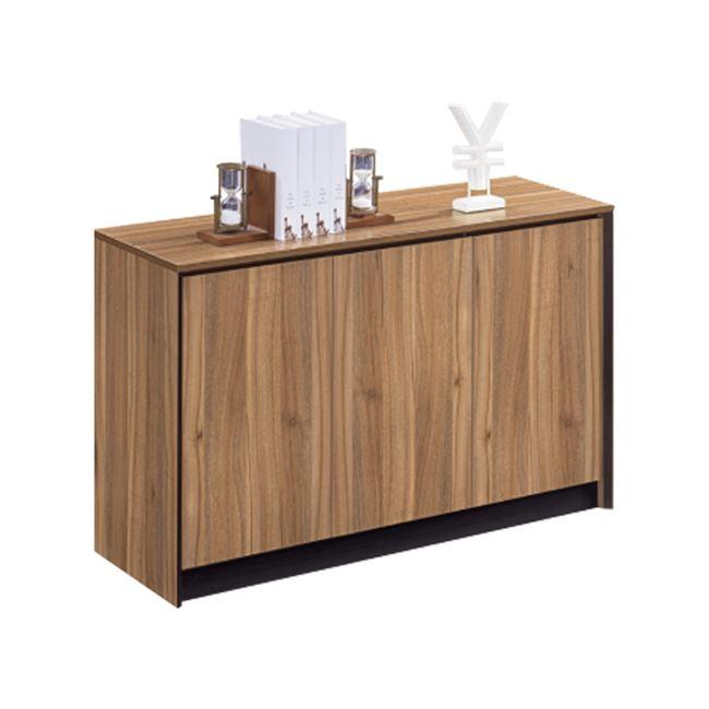 Ντουλάπι γραφείου επαγγελματικό σε χρώμα φυσικό/σκούρο γκρι 120x40x80