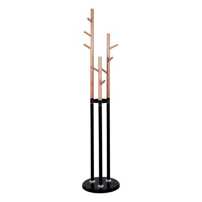 """Καλόγερος """"MERCURY"""" 3πλός μεταλλικός σε οξιά-μαύρο χρώμα Φ37×173"""