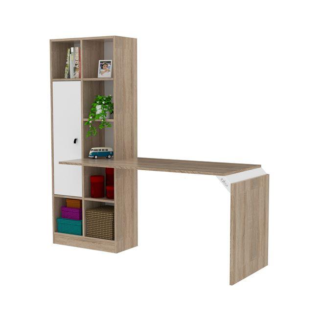 """Γραφείο-βιβλιοθήκη """"OPUS"""" σε χρώμα σονόμα/λευκό 180x30x170"""