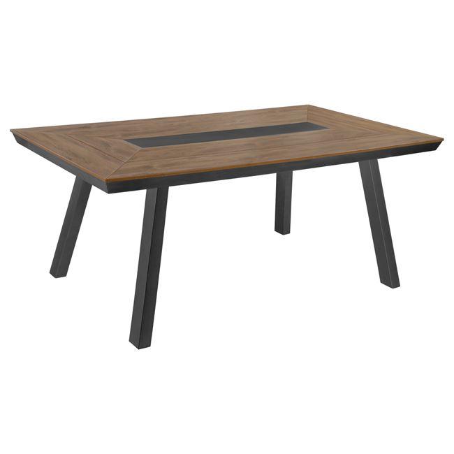 Τραπέζι αλουμινίου με POLYWOOD σε χρώμα γκρι 200x94x75