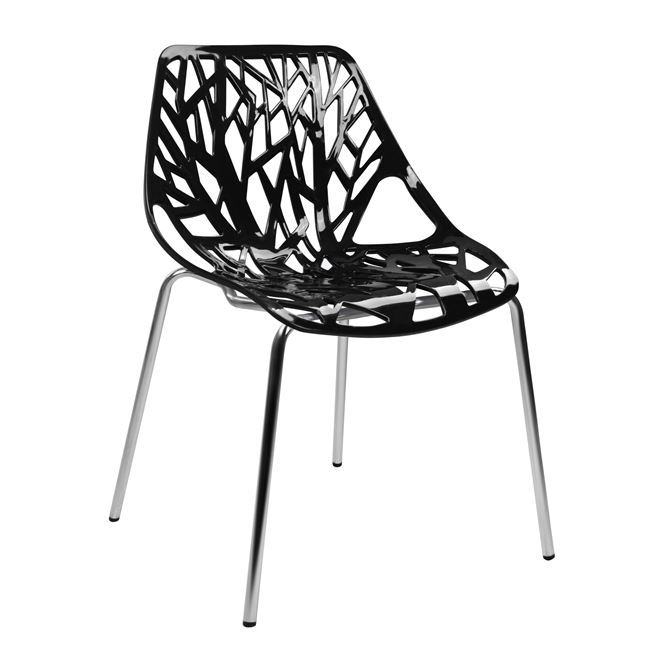 """Καρέκλα """"ELSA"""" από PP/μέταλλο σε χρώμα μαύρο 54x57x81"""