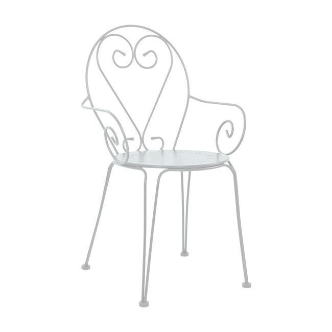 Πολυθρόνα «AMORE» από μέταλλο σε χρώμα λευκό 51,5x50x90