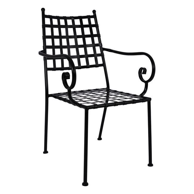 Πολυθρόνα από μέταλλο σε χρώμα μαύρο 55,5x60x92
