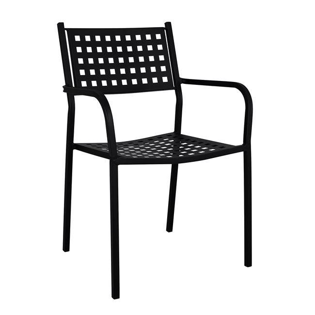 """Πολυθρόνα """"ZETA"""" από μέταλλο σε χρώμα μαύρο 55,5x50x84"""