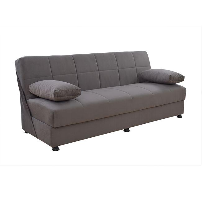 """Καναπές κρεβάτι """"EGE"""" τριθέσιος από ύφασμα σε χρώμα γκρι 192x74x82"""