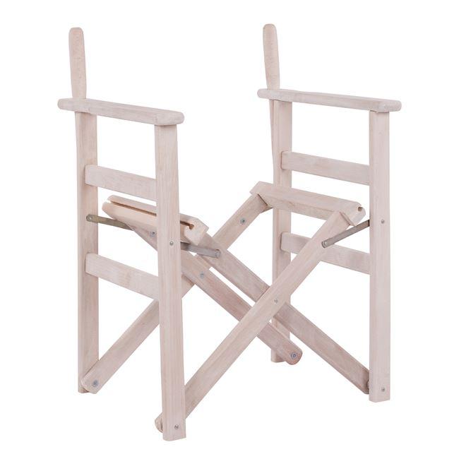 """Πολυθρόνα σκηνοθέτη """"ΝΑΞΟΣ"""" από ξύλο σε χρώμα λευκό 60x51x84"""