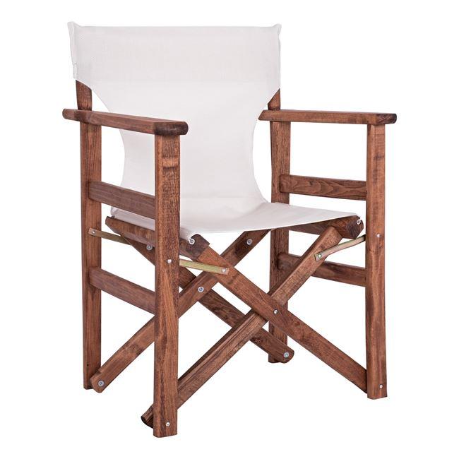 """Πολυθρόνα σκηνοθέτη """"ΝΑΞΟΣ"""" από ξύλο/ύφασμα σε χρώμα εκρού 60x51x86"""
