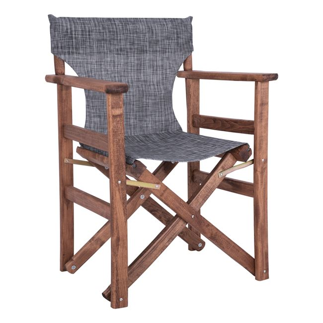 """Πολυθρόνα σκηνοθέτη """"ΝΑΞΟΣ"""" από ξύλο/ύφασμα σε χρώμα γκρι 60x51x86"""