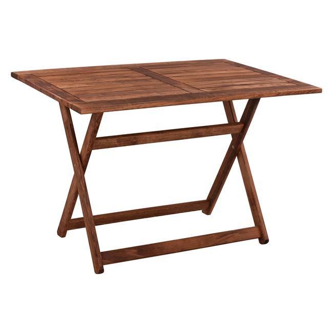 """Τραπέζι """"ΝΑΞΟΣ"""" από μασίφ οξιά σε χρώμα καρυδί 120x75x76"""