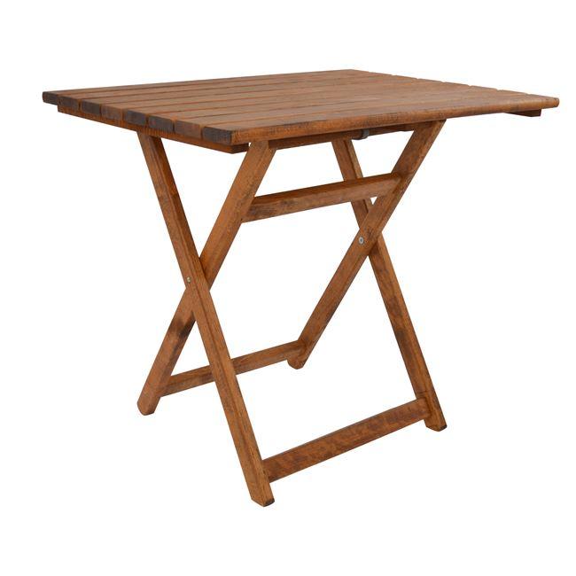 """Τραπέζι """"ΝΑΞΟΣ"""" από μασίφ οξιά σε χρώμα καρυδί 82x60x73"""